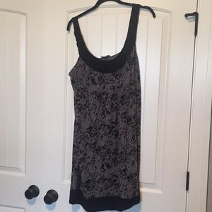 Ann Taylor Loft empire waist dress in gray/black